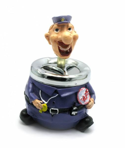 Пепельница керамическая с крышкой Полицейский