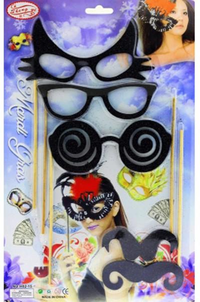 Карнавальный набор очки - усы