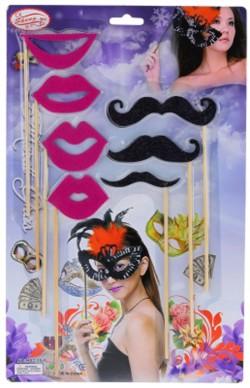 Карнавальный набор усы губы
