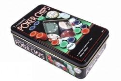 Набор для игры в покер в оловянной коробке, TC04100