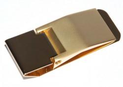 Золотистый зажим для денег Elite 8901