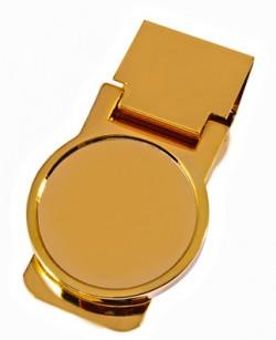Золотистый зажим для денег Elite M839-RB