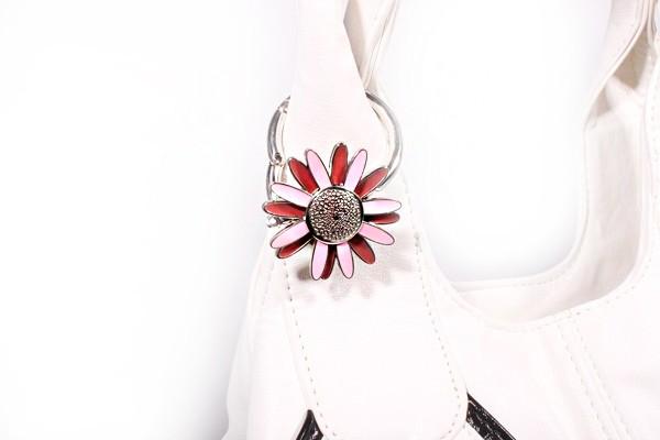 Сумкодержатель JINLI «Ромашка» розово-коричневая 107