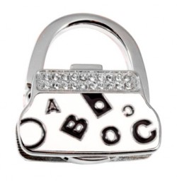 Держатель для сумки Jinli «Буквы» Белый JIN134
