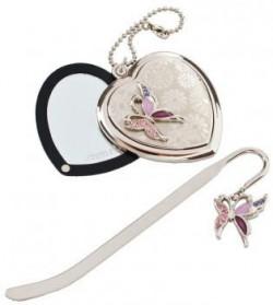 Подарочный набор Jardin D`Ete «Сиреневая бабочка» (зеркало и закладка)