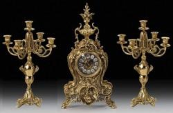 Набор Virtus. Часы настольные Golfino + пара канделябров Bola Coqu на 5 свечей