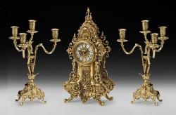 Набор Virtus. Часы настольные D. Fernando + пара канделябров D. Juan на 4 свечи