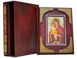 Земная жизнь Иисуса Христа и Богородицы двухтомник (Бордовый). Dn-157