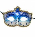 Маска венецианская синяя
