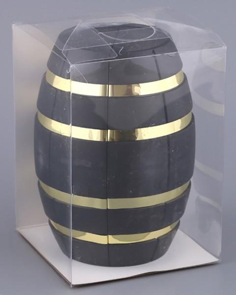 Винный набор бочка желтая