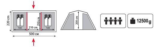 Палатка Hurone