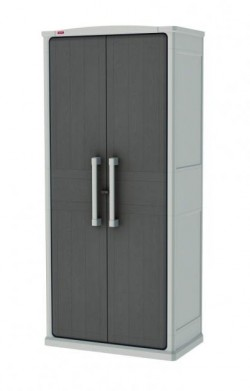 Ящик для хранения OPTIMA OUTDOOR TALL 570 л, бежево-серый