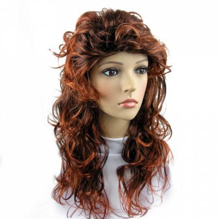 Парик длинные волосы каштановый