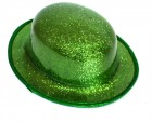 Шляпа Котелок пластик блестящая зеленая