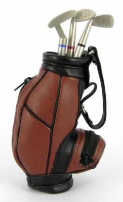 Гольф - сумка, настольный набор - часы