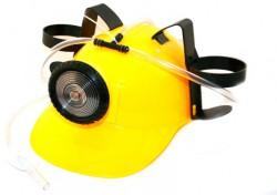 Шлем для пива МЧСника с фонарем желтый
