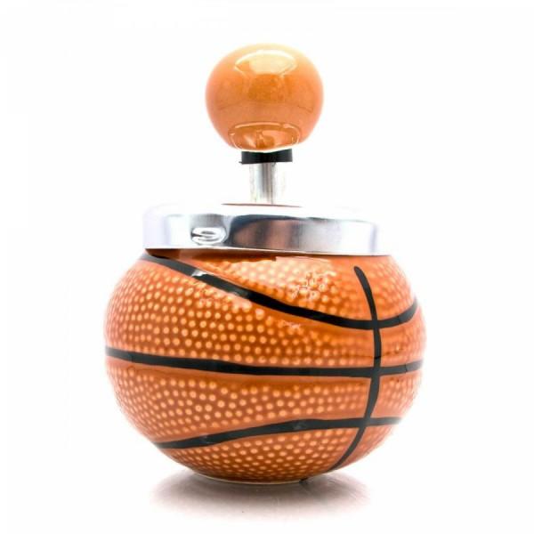 Пепельница с крышкой керамическая Баскетбольный мяч