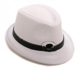 Зажигалка шляпа с полями белая