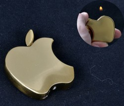Зажигалка карманная Apple gold