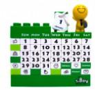 Календарь Конструктор зеленый