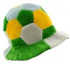 Шапка Футбольный мяч велюр желто-зеленый