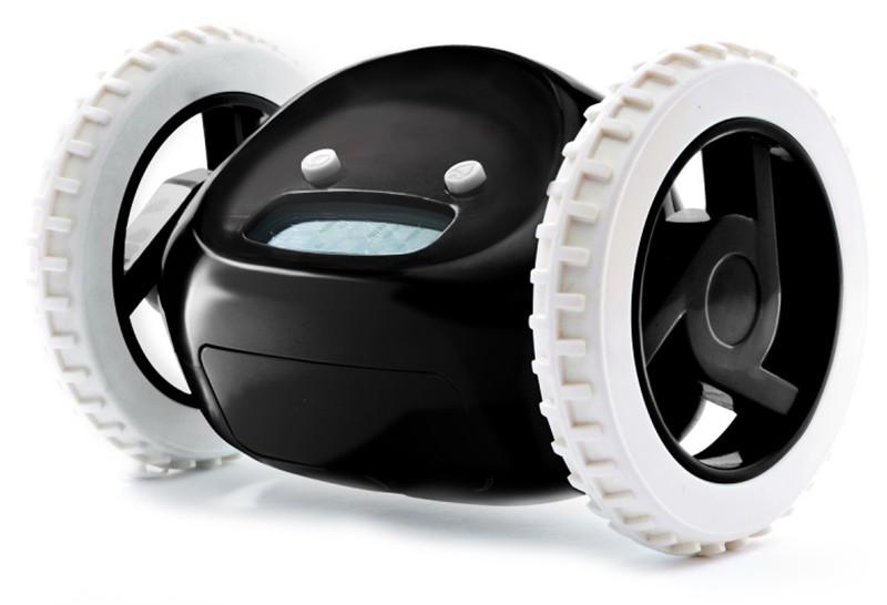 Будильник на колесах черный