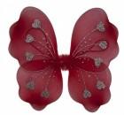 Крылья Бабочки с сердечками красные