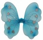 Крылья Бабочки с сердечками голубые