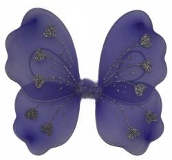 Крылья Бабочки с сердечками фиолетовые