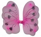 Крылья Бабочки с сердечками розовые