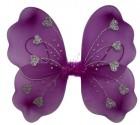 Крылья Бабочки с сердечками малиновые