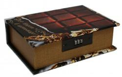 Шкатулка сейф Шоколад маленькая