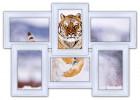 Деревянная мультирамка Классика на 6 фото белая